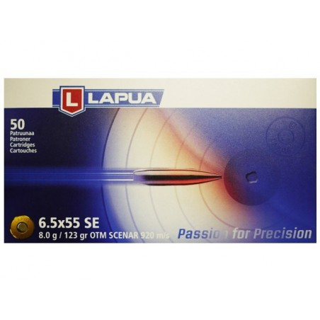 6.5x55 - Lapua - x50 / 123 grs
