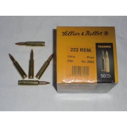 222 Rem - Sellier & Bellot - x50 / 50 grs