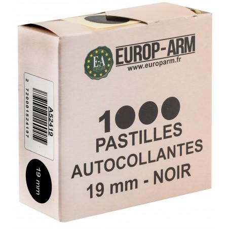 Pastilles autocollantes noires - x1000