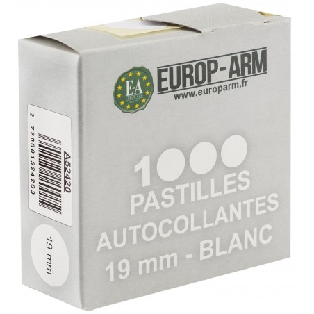 Pastilles autocollantes blanches - x1000