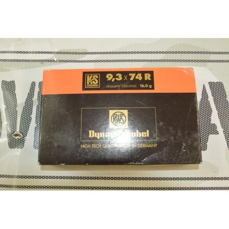 Cartouches RWS 9,3x74r 16gr x 20