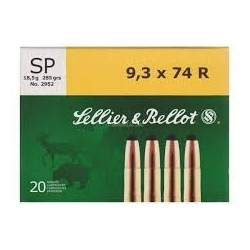 9.3x74R - Sellier Bellot - x20 / 282 grs