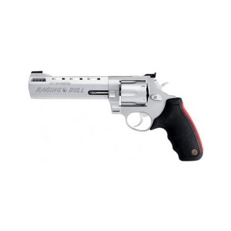 """Taurus 444 Raging Bull 6.5"""" - 44 Magnum - Inox matte avec compensateur"""